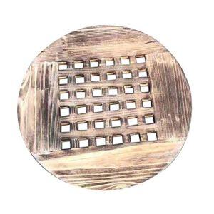 Dehongwang Lot de 2 supports de pot de fleurs ronds en bois avec 6 roulettes pour intérieur ou extérieur 30,5 cm