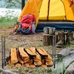 EBTOOLS Support de Stockage de Bois de Chauffage Porte-bûches Extérieur pour Bois de Chauffage Support à Bois de Chauffage Range-bûches pour Intérieur Extérieur Maison 184 x 32 x 113,5 cm