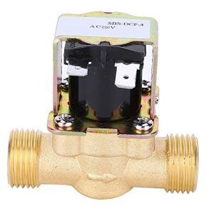 Électrovanne électrique en laiton accessoire industriel en cuivre 1/2 pouce pour chauffe-eau solaires pour eau Air gaz mazout(AC220V)