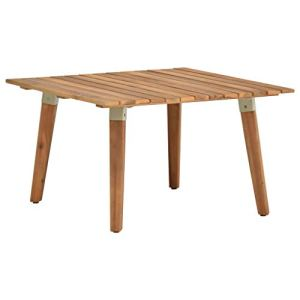 Festnight Table Basse de Jardin Table de Piscine Table de Patio Bois Solide d'acacia 60x60x36 cm
