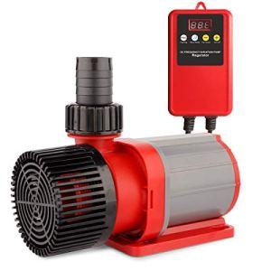 FREESEA Pompe à eau pour bassin/filtration/pompe de bassin Fréquence DC 24 V, 7000 L/H Hi-Flow 50 W, hauteur d'aspiration 6 m