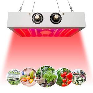 GALOOK Lampe Plante LED, 1200W Lampe de Croissance Horticole COB Ajustable Spectre Complet UV IR, Grow Light avec Veg & Bloom pour Plantes D'intérieur/Fleurs et Légumes/Semis Eclairage de Greenhouse