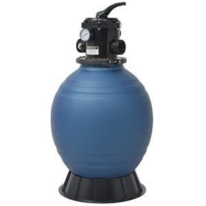 ghuanton Filtre à Sable de Piscine 18 Pouces / 460 mm Bleu Rond Maison et Jardin Piscine et Spa Accessoires pour piscines et spas Filtres pour piscines et spas