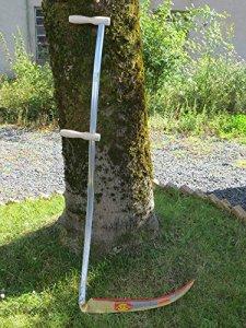 Grande Faux à herbe en acier tubulaire Grand format Longueur lame: 138 cm &60 cm