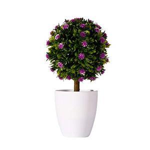 hanbby Plante Artificielle Plantes Bureau Décor Plantes d'intérieur Plante d'intérieur Plantes Décoratives Décor à la Maison Cuisine Décoration Purple