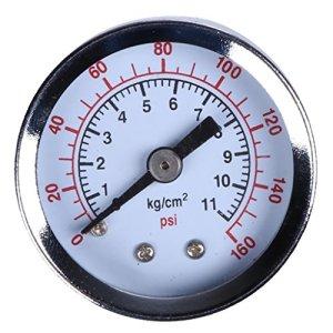 harayaa Manomètre Manomètre Manomètre Eau Huile Pression Atmosphérique 160 PSI 1/8″