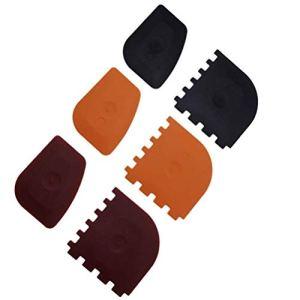 Hemoton 6Pcs Grattoirs à Pot en Plastique Grattoirs Ensemble Outil pour Poêles en Fonte Poêles à Frire Et Grilles de Nettoyage Grattoir Noir/Rouge/Orange