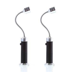 Hemoton Lumière de Gril de Barbecue Lumière de Barbecue à Base Magnétique 2 Pièces avec Accessoires de Gril à Col de Cygne Flexibles pour Griller
