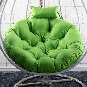 HLDBW Hanging Egg Hanging Cushion Cushion Coussin de siège Swing épais avec Coussin Coussin de Chaise à Bascule Rond for Patio Pas de Chaise Diamètre 105cm (41inch) (Color : B)