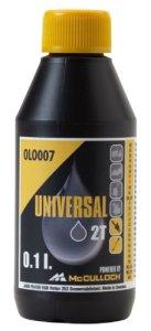 Huile Universal pour moteurs deux temps: Huile deux temps, 0,1 litre comme protection contre l'usure, effet lubrifiant élevé, propreté optimale du moteur (n° art. 00057-76.164.07)