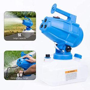 Kacsoo 5L Pulvérisateur Électrique ULV 1200W Portable Fournitures de Jardin à la Maison Pulvérisateurs d'irrigation d'arrosage Industriel