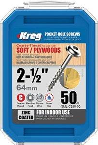 Kreg SML-C250-50 Lot de 50 vis de poche à tête ronde épaisse 5,1 cm #8