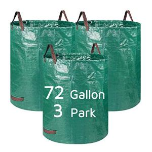 Lagaga Grand sac de jardin résistant avec poignée pour extérieur, pour jardin, pelouse, terrasse, piscine (3 parcs)
