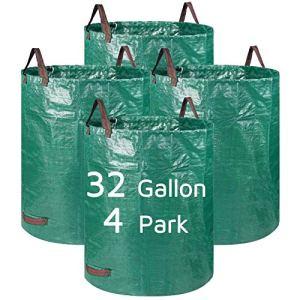 Lagaga Grand sac de jardin robuste avec poignée – Pour jardin, pelouse, terrasse, piscine – 4 parcs