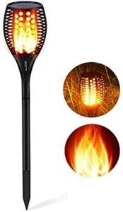 Lampe solaire de jardin 96 LED – Lumière crépusculaire jusqu'au matin – Torches de jardin – Lampe solaire de jardin – Lampe solaire de jardin étanche IP65 – Pour l'extérieur