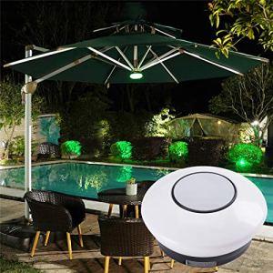 Lampes de parasol avec haut-parleurs stéréo Bluetooth intégrés et chargement USB.Les lumières de parasol pour terrasse extérieure conviennent à vos activités de loisirs en plein air.