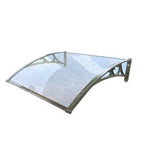 LLSS Auvent Auvent Abri de Pluie extérieur Auvent de fenêtre de Porte Feuille de Polycarbonate Transparent résistant aux intempéries Abri de Protection Contre Les Rayons UV de Pluie,60×80cm