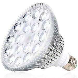 MILYN 54 W Lampe De Croissance, LED E27 Ampoule pour Plantes Blanche Spectre Complet Eclairag Lampe De Plante Parfait pour Plante IntéRieur, Serres. Jardins, Semis, Croissance, Floraison