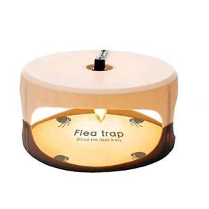 Newin Star Lampe aux puces Piège 5PCES Fly Tueur Round Installation Simple Colle Disques Meilleur Pest Control Efficace Contre Les puces, moustiques et Autres Petits Insectes pour la Maison