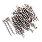 Nuzamas Lot de 50 vis auto-perceuses en acier inoxydable 304 avec rondelle pour bois, fixation en métal 5,5 x 70 mm
