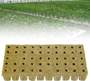 ODOMY 50PCS Laine de Roche Cubes de Culture Soilless, Laine de Roche,Rockwool Grow Cubes Hydroponics pour Boutures,Clonage, Propagation de Plantes et Démarrage des Semences(Style:1)