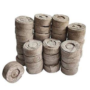 Odoukey Peat Pellets, Sol Jiffy Graines de démarrage Peat Bloc 30mm Éviter Racine de Choc pour l'intérieur Jardin Succulentes Planteur 50pcs