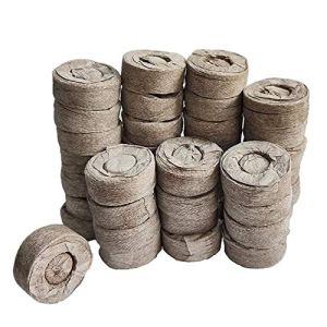 Peat comprimé à granulés Fibre sol Graine de plantes Starters, Bouchons palettes Semis sol Bloc, semences d'engrais éléments nutritifs Bloc comprimé Bloc Tourbe pour Herbes grandissons, plantes,