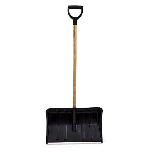 Pelle a neige Samson avec manche en bois, tete noir 54 cm en plastique
