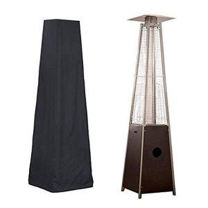 Piaoliangxue Housse de Chauffage de Patio de Style Pyramide – Housses de Parapluie triangulaires Debout extérieures – Protecteur de Meubles Anti-UV avec revêtement en PU – pour terrasse de Jardin