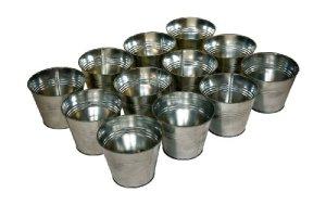 Plant Theatre Lot de 12 Cache Pots en Zinc