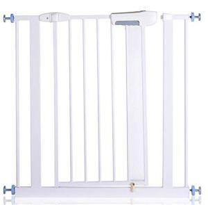 Porte de garde pour bébé sécurisée, clôture d'isolation pour animaux de compagnie Pass ultra-haute puissance et installation de porte pour animaux de compagnie est d'environ 80 cm, comprenant une aire