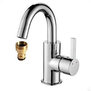 Raccord de tuyau fileté en laiton massif pour robinet
