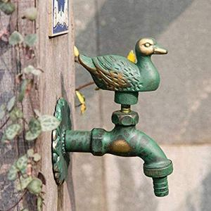 Robinets robinet de jardin robinet Animal jardin temps cuivre unique froid jardin antigel vadrouille piscine Machine à laver canard