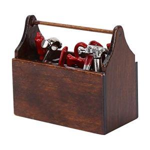 Sharainn Boîte à Outils de Maison de poupée, boîte à Outils Miniature de Maison de poupée écologique pour Les Amis de Parents d'enfants