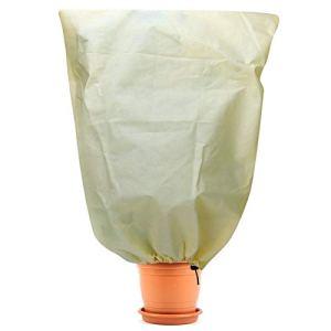 Sinwind Housse Hivernage pour Plantes, Protection Hivernale pour Plantes, Housse D'hivernage Non Tissée, Protection Contre Le Gel des Plantes en Pots et Rosiers (100 * 80cm)