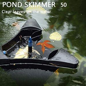 Skimmer pour Piscine Exterieur, Skimmer de Bassin avec 10m CâBle d'alimentation, Skimmer Bassinpour Grand éTang, éTang De Jardin, éTang de Cour, avec Fonction BalnéO,Swim Skim(50)