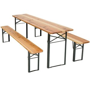 TecTake 800424 Meuble de Jardin, Table et Bancs, Bois, Pliable -diverses modèles- (Type 1 | no. 400871)