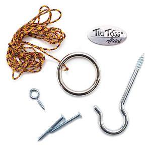 Tiki Toss Original crochet et anneau jeu Essentials comprend crochet, anneau, vis de fixation et Thread