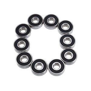 UEETEK 10pcs S608RS Roulement Remplacement pour Tapis Roulements 8mm Diamètre Intérieur + 22mm Diamètre Extérieur + 7mm Épaisseur, 2.1 * 2.1 * 0.6 cm
