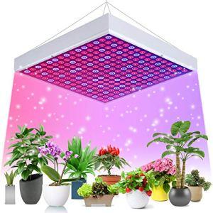 Ulikey Lampe de Croissance LED, Lampe de Plante, Lampe de Culture Spectre Complet avec 225 LEDs, LED Horticole Lampe pour Semis, Fleurs et Légumes, Serre Plants Germination, Floraison (A)