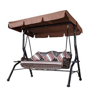 Veranda Swing Garden Swing 2 Places 3 Places Swing Chair Outdoor Swing Cradle Chair Porche Swing Roof Garden Swing pour Porche Patio Garden Yard Pool
