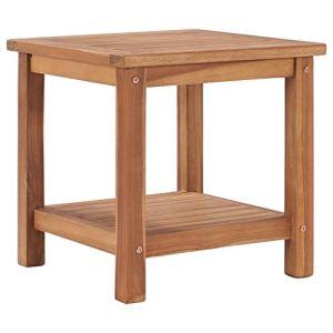 vidaXL Bois de Teck Solide Table Basse Table d'Appoint Table de Salon Table de Canapé Bout de Canapé Salle de Séjour Maison Intérieur 45x45x45 cm