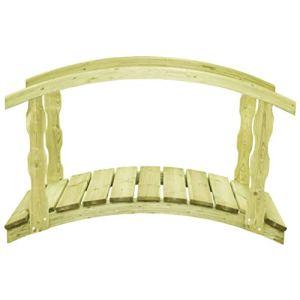 vidaXL Pont de jardin avec balustrade 170x74x105 cm Pin imprégné FSC