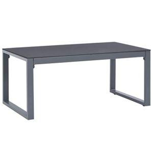 vidaXL Table Basse Table d'Appoint Table de Canapé Table de Salon Jardin Patio Terrasse Arrière-Cour Extérieur 90x50x40 cm Aluminium