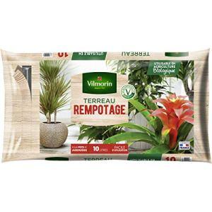 Vilmorin – Terreau rempotage plantes d'intérieur vertes et fleuries – Sac de 10 litres