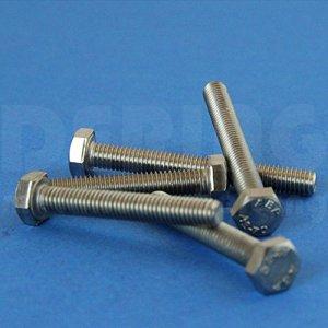 Vis à tête hexagonale M10 x 10 DIN 933 en acier inoxydable A2 (VPE = 100 pièces).