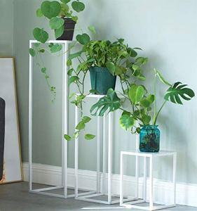 WJGJ Fer Forgé Fleur Stand,Plante Jardinière Pot Shelf, Fer Forgé Jardinière Plante Verte D'intérieur Pot Rack Salon Balcon Simple Étage Jardinière (Size : A)