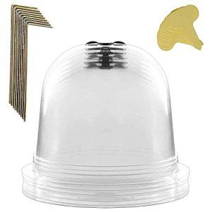 Wopohy Lot de 6 cloches de jardin réutilisables en plastique pour mini serre de jardin
