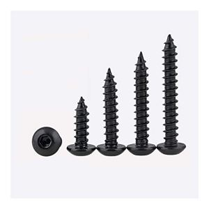 Yijian Lot de 5/10 vis auto-taraudeuses à tête hexagonale M5 M6 Noir 8,8 Haute résistance SS32 (couleur : 16 mm, taille : M6 (5 pièces)