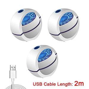 YJ-foryou Alimenté par USB Tueur de Moustique Lampe 1m / 2m électrique Pas de Bruit 360 ° Tueur d'insectes Bug Zapper piège à moustiques Lumière for Chambre Maison (Color : 2m 3pcs)